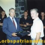 Comores 78  - Remise des galons de Caporal d'honneur de la GP a Christian Olagaray
