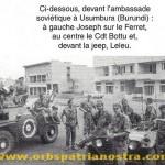 Congo 65 - Usumbua (Burundi) devant l ambassade URSS, Joseph sur le feret, ottu au centre, Leleu devant la jeep