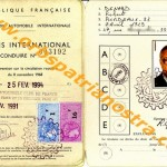 colonel permis de conduire international