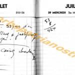 opn BD agenda 1964 28-29 juillet