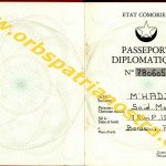 passeport diplomatique comorien 780605 003