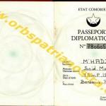 passeport diplomatique comorien 780605 003