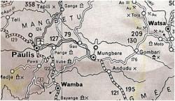 Carte 2 - vue de la région Paulis, Mungbere et Wamba