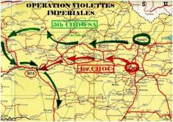 Carte 3 – Opération « Violettes Impériales »